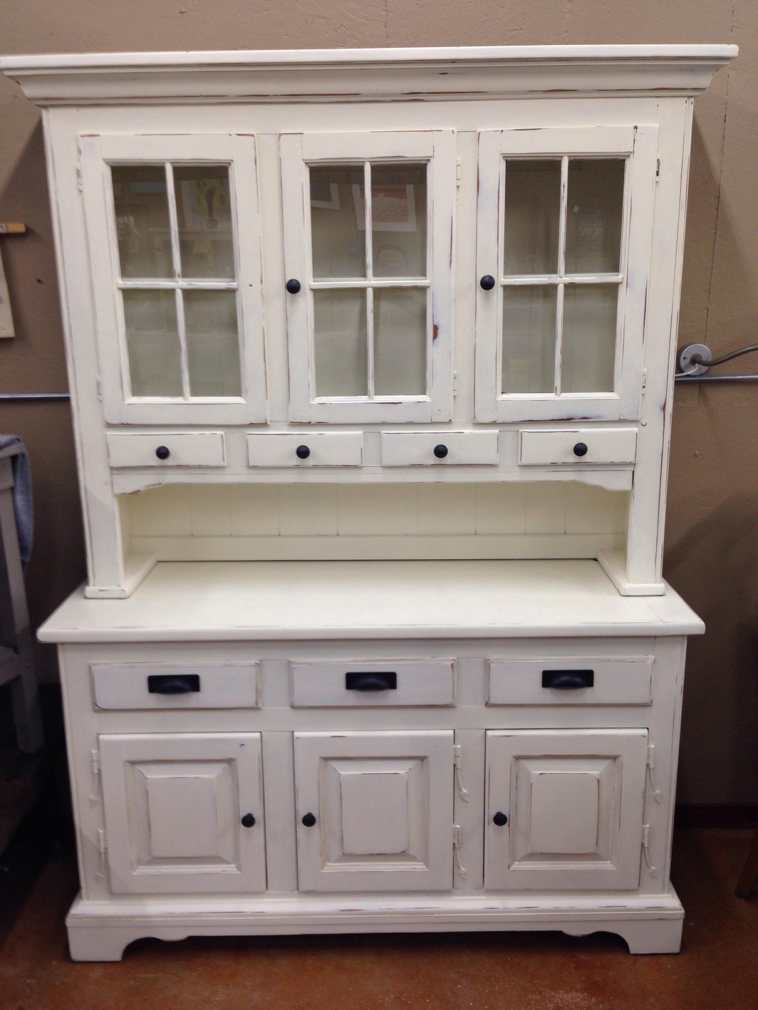 Milk Paint Hutch in Linen, from Carver Junk Company | Recycle. Repurpose. Relove.