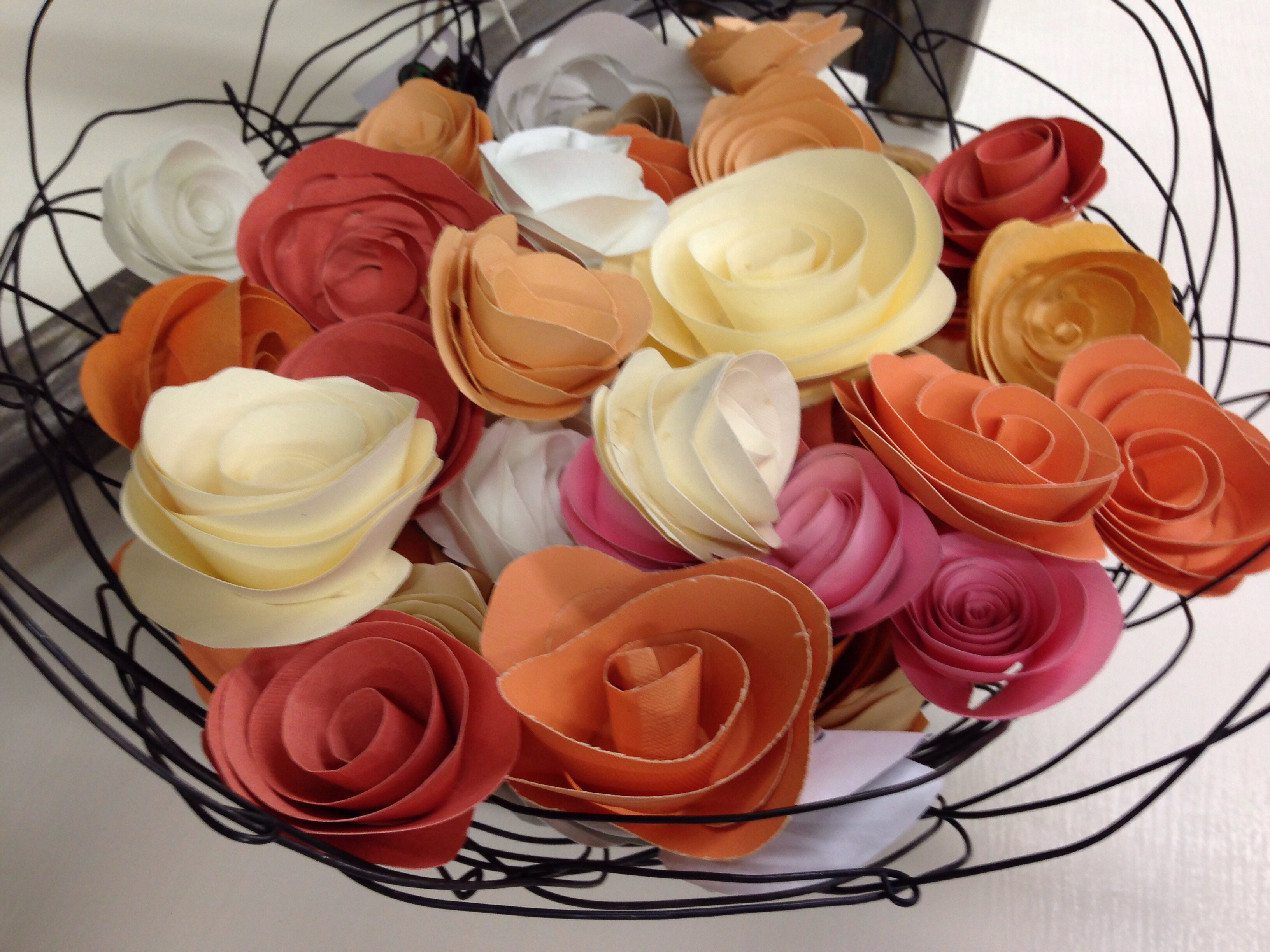 Paper Flowers for Spring. Handmade, from Carver Junk Company | Recycle. Repurpose. Relove.
