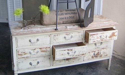... A vintage dresser made to look primitive by using Milk Paint to create  a chippy effect. In fact, this is probably factory made around 50-60 years  old, ... - Primitive, Rustic, Antique, Vintage - What's The Difference?