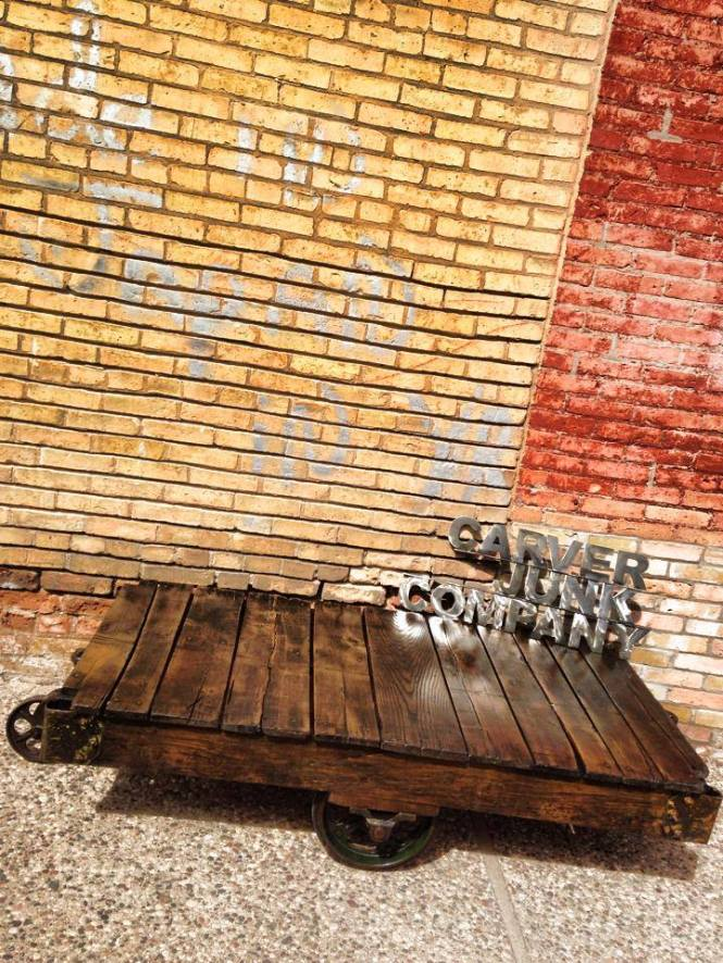 Reclaimed Warehouse Cart Coffee Table | Carver Junk Company | Recycle. Repurpose. Relove.