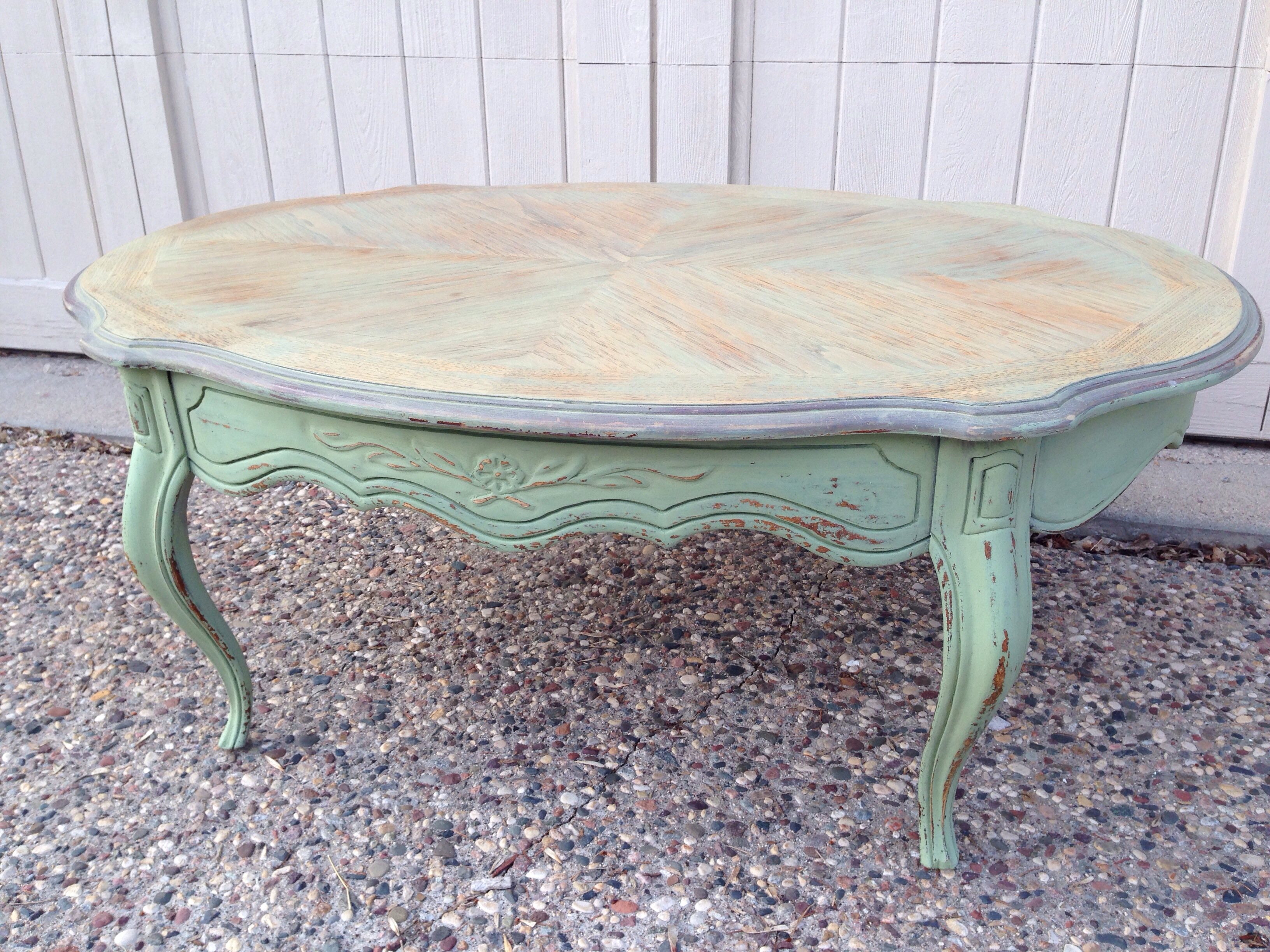 20140421 181136Luckettu0027s Green Milk Paint Coffee Table | Carver Junk  Company | Recycle ...