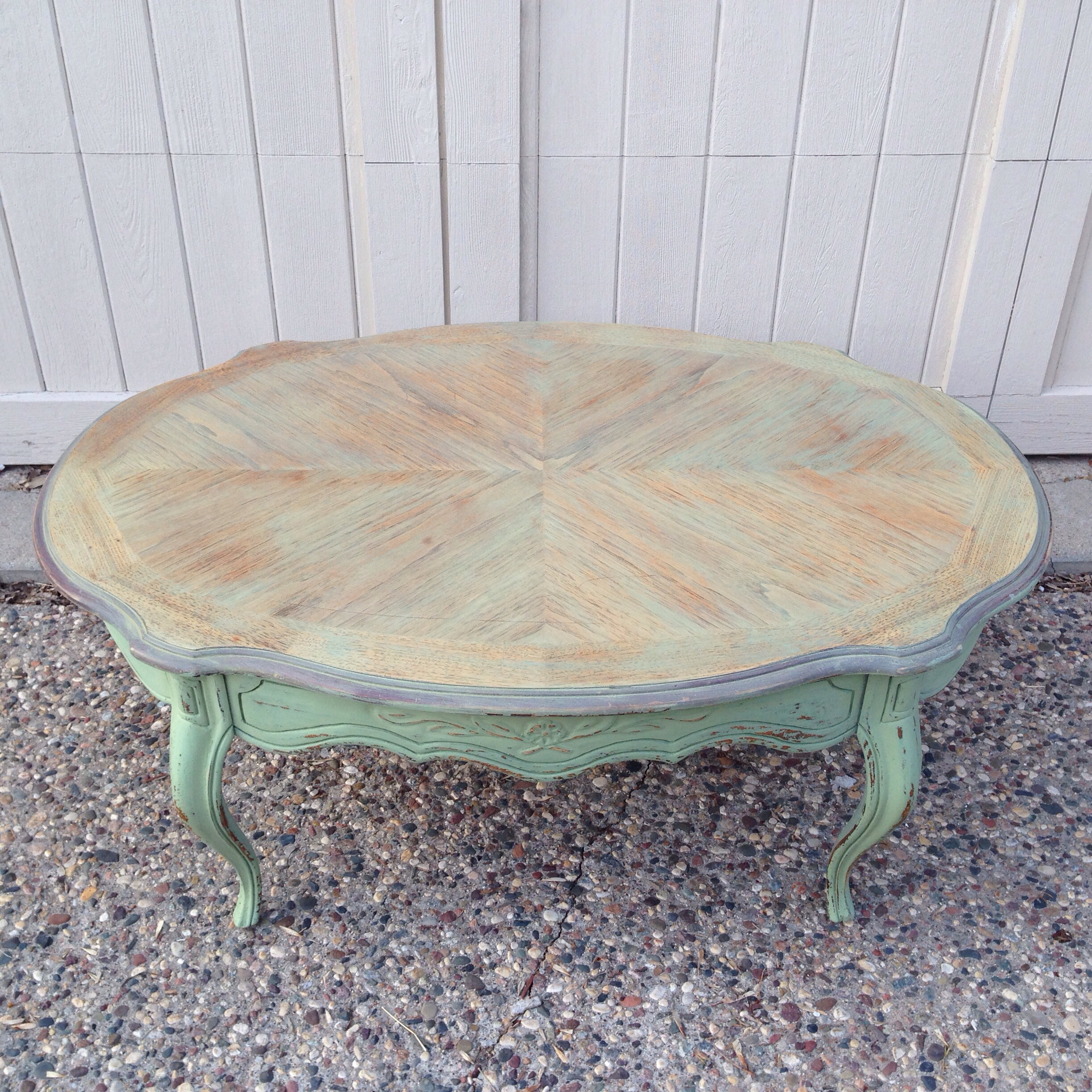 Luckett's Green Milk Paint Coffee Table | Carver Junk Company | Recycle. Repurpose. Relove.