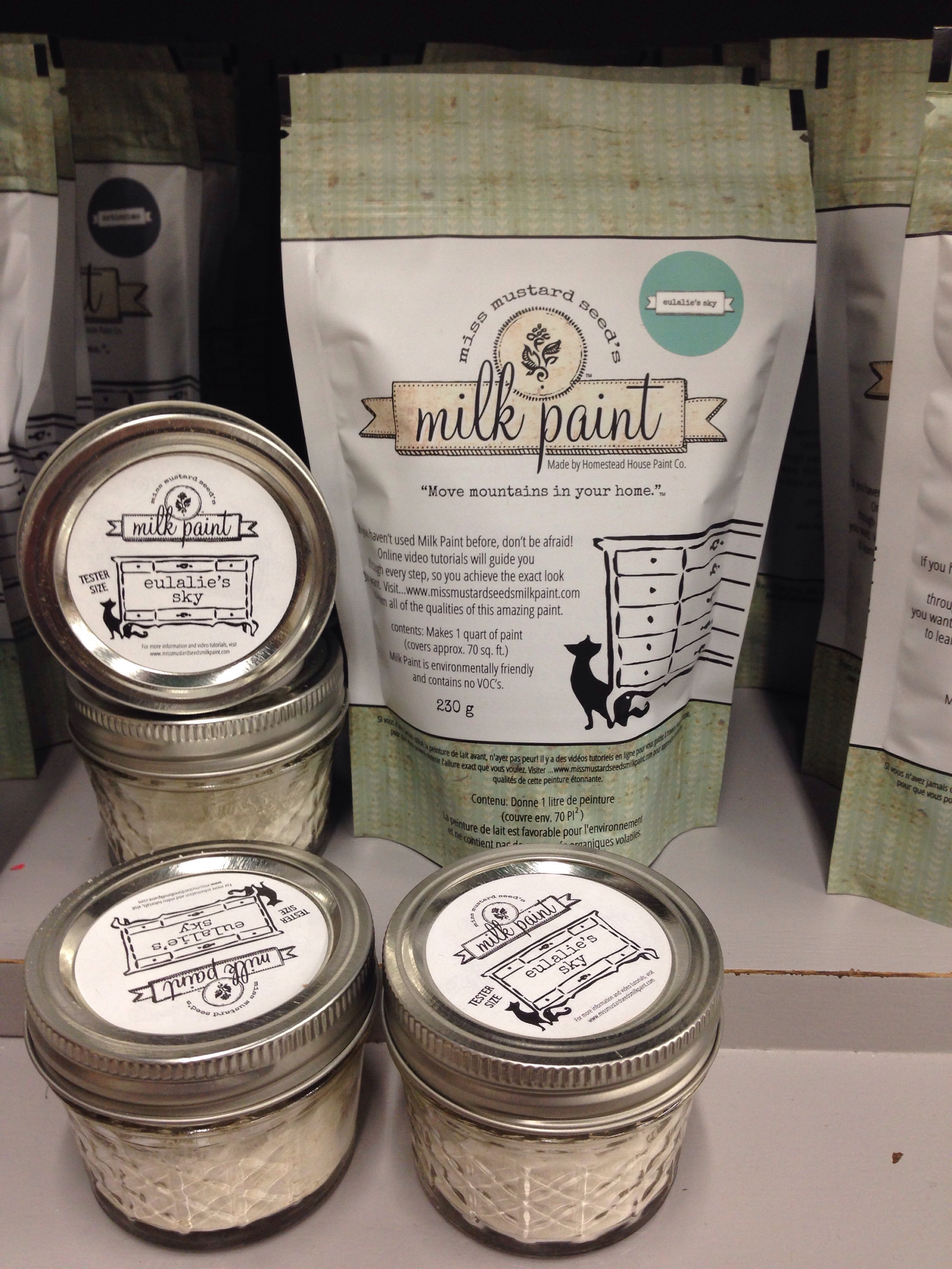 Miss Mustard Seed's Milk Paint | Eulalie's Sky | 1 quart and Tester jars |Carver Junk Company