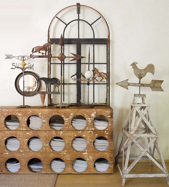 Source: Better Homes and Gardens |Vintage Equestrian Decor | Carver Junk Company | #vintagecabin