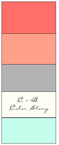 We didn't create this - I found it on Pinterest, but can't find the original source. A little crazy that it's C & B Color Story (as we're also C & B) - meant to be??