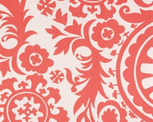 Coral Suzani Fabric from Fabric.com