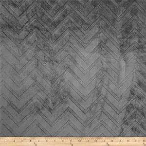 Gray Minky Chevron from Fabric.com