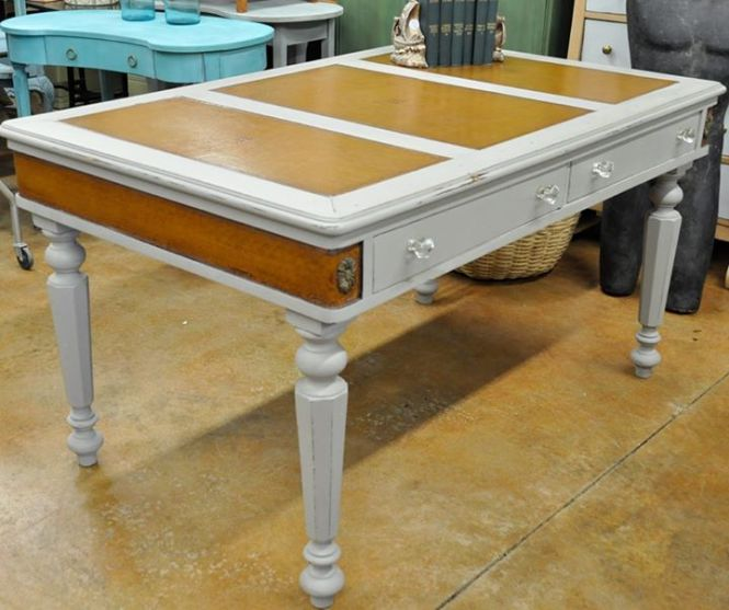 WhiteButterflyLibraryTable| Carver Junk Company