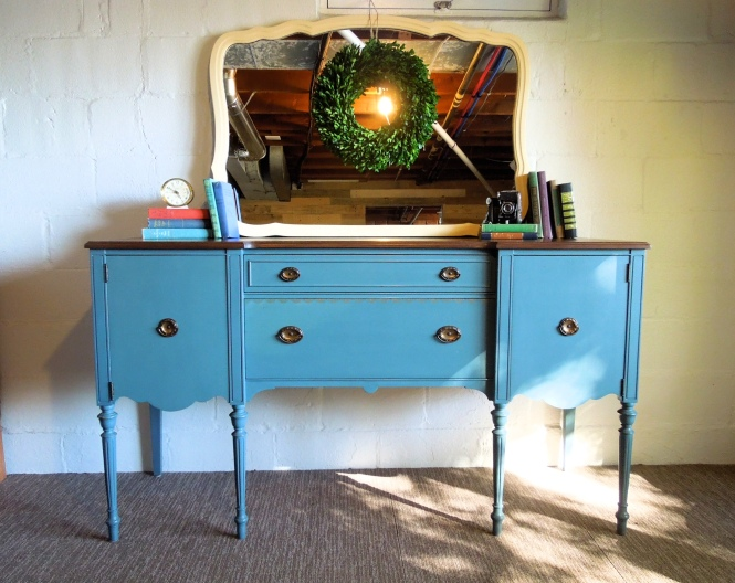 Custom Color Miss Mustard Seed's Milk Paint Buffet | Cotton Seed Designs at Carver Junk Company
