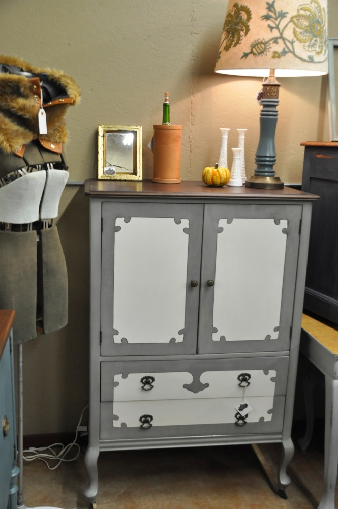 Cotton Seed Designs at Carver Junk Company | Dresser Armoire with Drawers Inside | Miss Mustard Seed's Milk Paint